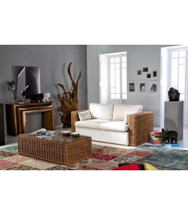 Sofa Cama de Rattan : Coleccion CALPE