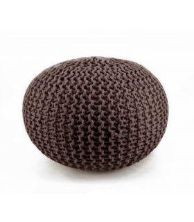 Comprar online Puff en Textil : Modelo CROCHET marrón