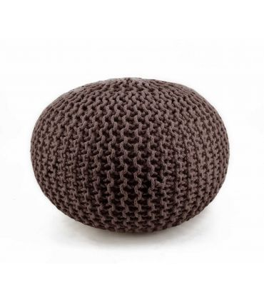 Puff en Textil : Modelo CROCHET marrón