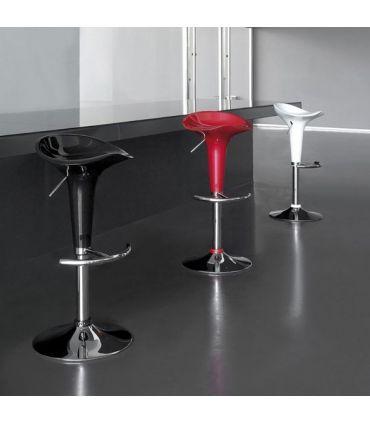 Set de 2 Taburetes de Diseño Moderno : Modelo NORMAN Negro