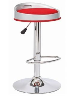 Comprar online Set de 2 taburetes de Diseño Moderno : Modelo CUMBIA rojo