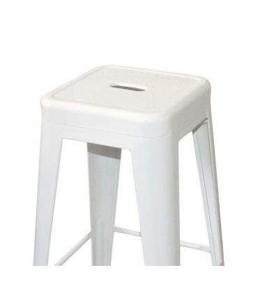 Set de 4 Taburetes de Estilo Industrial : Modelo TOLT Blanco