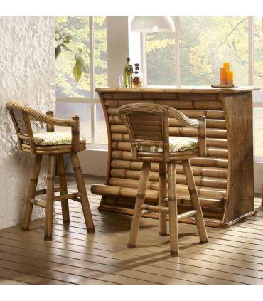 Taburetes Giratorios de Bamboo : Modelo MINDANAO