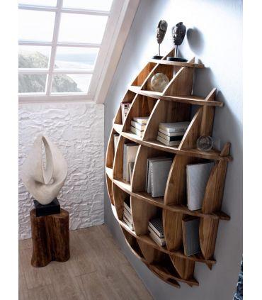 Estantería de madera natural : Colección ALAMANDA