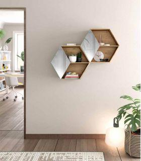 Comprar online Estante Hexagonal en madera : Modelo MEL