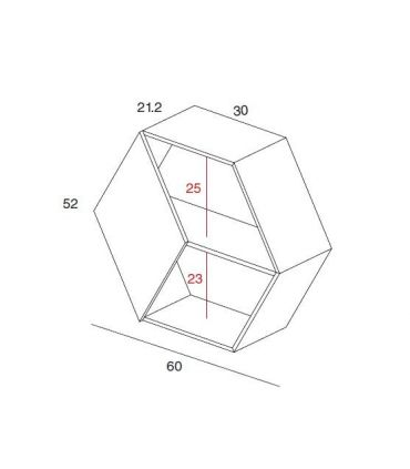 Estante Hexagonal en madera : Modelo MEL
