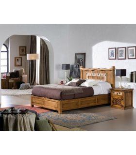 Comprar online Cama rústica de madera con Arcón : Colección MARBLE