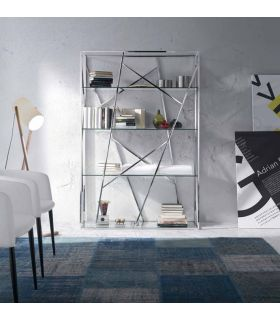 Estantería de Diseño en Acero : Modelo NEREA Cristal