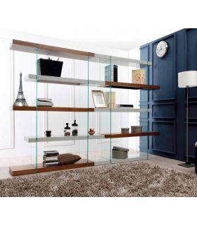 Comprar online Estantería de Diseño en madera y cristal : Modelo MOSCU