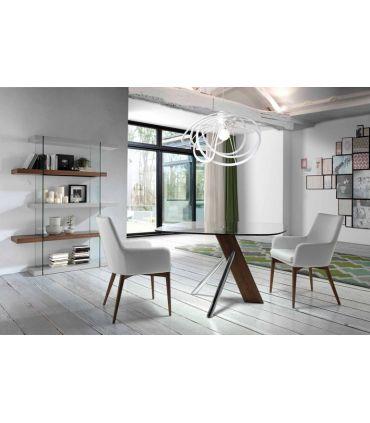 Estantería de Diseño en madera y cristal : Modelo MOSCU