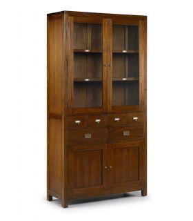 Comprar online Mueble con Vitrinas Estilo Colonial : Colección FLAMINGO 6 cajones