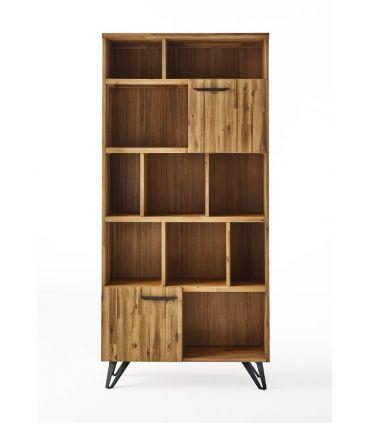 Estantería en madera natural de acacia : Colección IRATI
