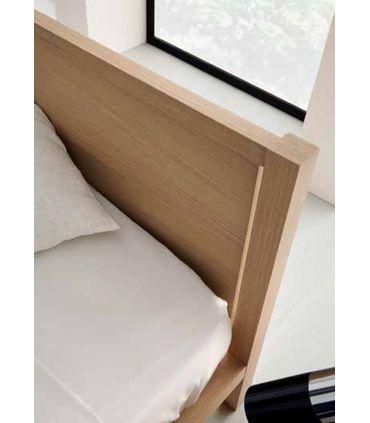 Cama de Estilo Moderno en Madera con Tapizado : Modelo AMETS
