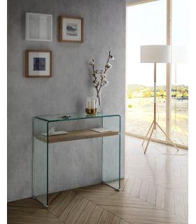 Comprar online Consola de Cristal templado y Madera Modelo ASTURIAS