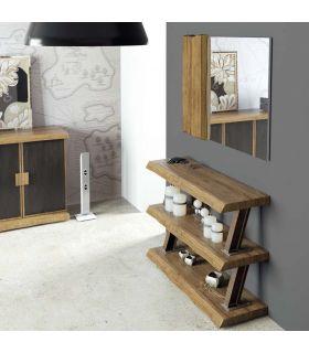 Comprar online Recibidor estilo industrial con estantes de Madera : Modelo ZENT