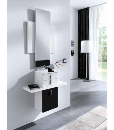 Mueble de Recibidor suspendido : Modelo ALMERIA Negro/Blanco