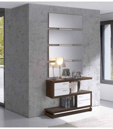 Mueble de Recibidor en Madera : Modelo VALENCIA Blanco/Negro
