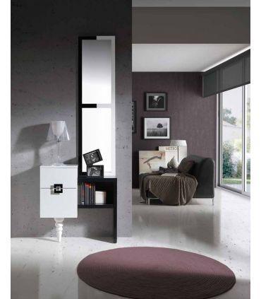 Mueble de Madera para entrada y recibidor : Modelo MALAGA Roble