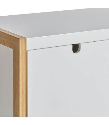 Mueble Taquillón Auxiliar de Estilo Nórdico : Colección SQUARE Blanco
