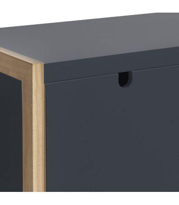 Mueble Taquillón Auxiliar de Estilo Nórdico : Colección SQUARE Gris Antracita