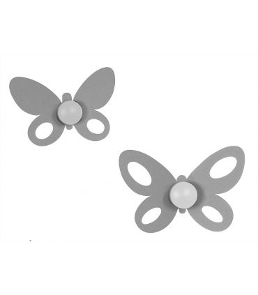 Perchas : Mod. BUTTERFLY aluminio (set 2 uds.)