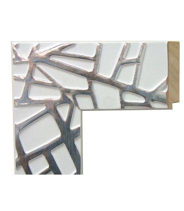 Espejo a medida con marco de madera : Modelo LEGANES Blanco