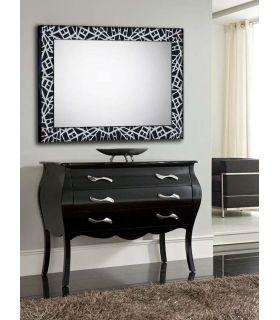 Comprar online Espejo a medida con marco de madera : Modelo LEGANES Negro