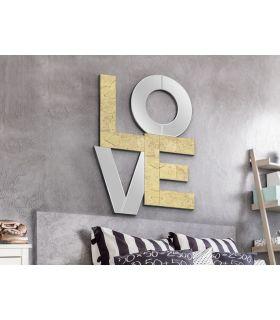 Comprar online Espejo Decorativo con Pan de Oro : Modelo LOVE