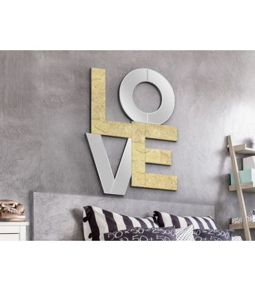 Espejo Decorativo con Pan de Oro : Modelo LOVE