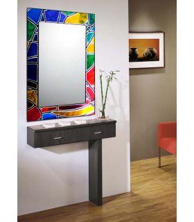 Comprar online Espejos de Cristal Decorados a mano : Modelo VITRAIL