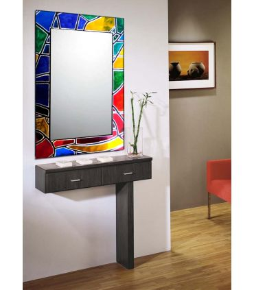 Espejos de Cristal Decorados a mano : Modelo VITRAIL