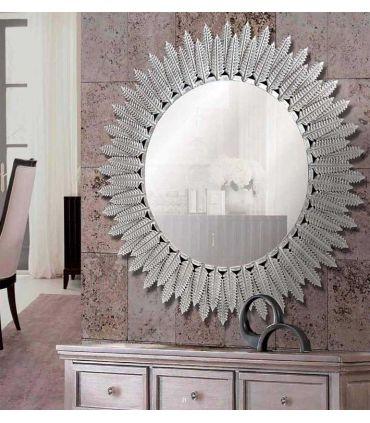 Espejo de Pared Redondo de Aluminio : Modelo HELECHOS