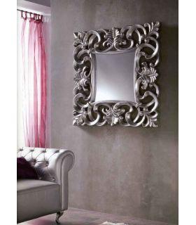 Comprar online Espejo clásico de Pared Cuadrado : Modelo SARTRE plata