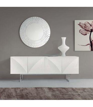 Espejo moderno de Cristal redondo : Modelo XEON