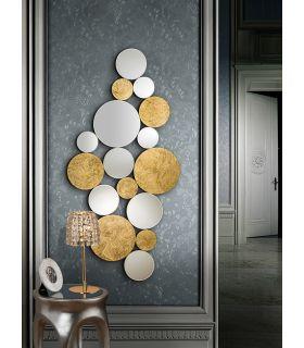 Espejo Moderno en Pan de Oro : Modelo CIRZE