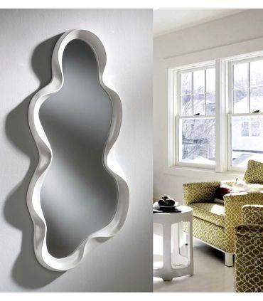 Espejo Decorativo Blanco Perlado : Modelo GARONA