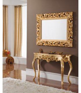 Espejo clasico de madera : Modelo HERACLITO oro
