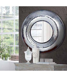 Comprar online Espejo Redondo de Metal Plateado : Modelo AUREO