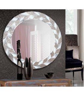 Comprar online Espejo de Pared Redondo con Marco de Cristal : Modelo PASCALE