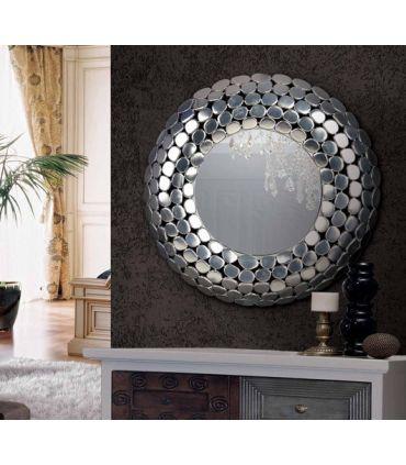 Espejo de pared redondo con Marco de Aluminio Modelo TORTUGA