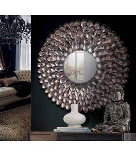 Comprar online Espejo Redondo de Diseño en Metal : Modelo CONCHA