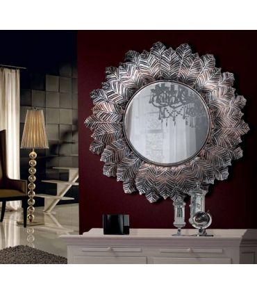 Espejo de Cobre : Modelo HOJA FLOR