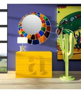 Comprar online Espejos de Cristal Decorados a mano : Modelo ESFERA