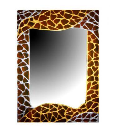Espejos de Cristal Decorados a mano : Modelo GAUDI JAUNE