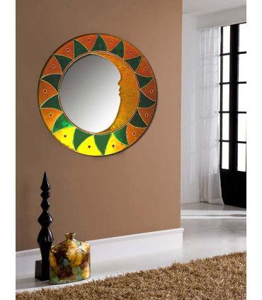 Espejos de Cristal Decorados a mano : Modelo MAYA Verde