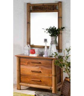 Comprar online Espejo de Bambu : Coleccion TROPICANA II Pequeño
