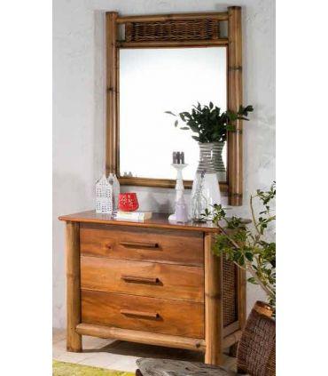 Espejo de Bambu : Coleccion TROPICANA II Pequeño