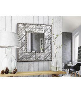 Espejo Cuadrado Diseño Industrial ALPES aluminio Schuller