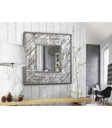 Espejo Cuadrado de Diseño Industrial : Modelo ALPES aluminio
