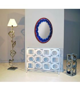 Comprar online Espejos de Cristal Decorados a mano : Modelo LOTTO Ovalado